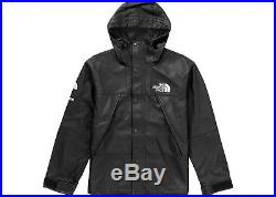Black Leather Parka Supreme x The North Face XL