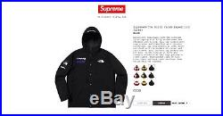 Confirmed sz small Supreme x the north face expedition jacket black FW18 DSWT