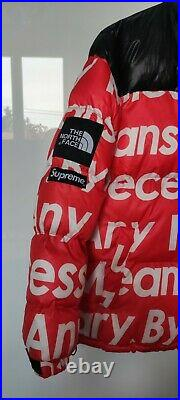 Doudoune rouge The North Face x Supreme