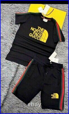 Emsemble Short-Tshirt Haute Qualité Gucci North Face