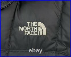 Femmes M The North Face Noir Long à Capuche Bas Doudoune Parka 600 Remplissage