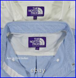 Homme The North Face Violet Étiquette Nanamica Coton Polyester Oxford Shirt Neuf