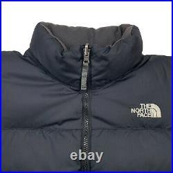 Hommes M The North Face Nuptse Triple Noir 550 Remplissage Bas Doudoune