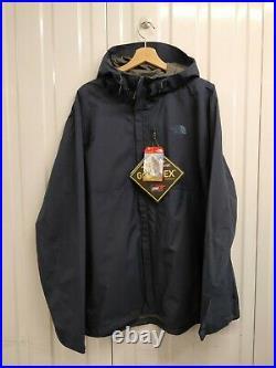 Neuf Hommes The North Face Goretex UK Taille XXL Bleu Veste Imperméable