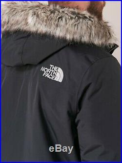 Neuf Veste Parka Doudoune Blouson Capuche Fourrure Zaneck Noir The North Face XL