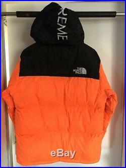 Nuptse The North Face X Supreme Orange
