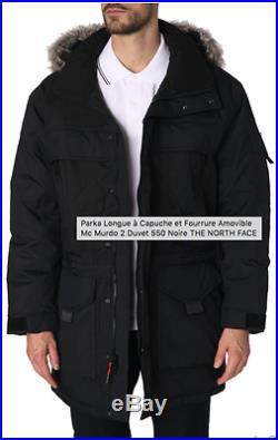 Parka longue capuche fourrure The North Face McMurdo 2 duvet 550 noire L Homme