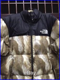 REP Supreme x The North Face Doudoune (Puffy) Fourrure Leopard Nuptse Noir/Gris