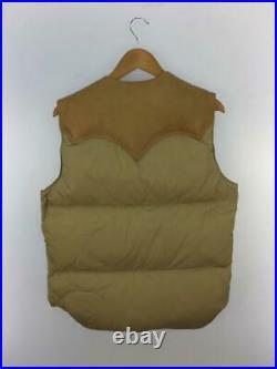 Rocky Mountain Lit de Plume 40 Nylon Beg Étiquette Taille 40 Beige Gilet 1318