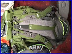 Sac The North Face XL 65 Terra Black Green + Housse Quechua Bagpack Bag Dos