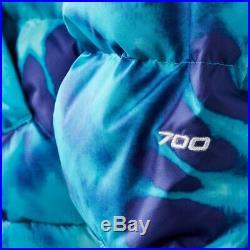 Sns X The North Face Nuptse Veste Plongée Bleu Tie And Dye Hommes Taille XL Neuf