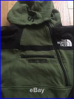 Supreme NYC x The North Face Olive Steep Tech Hoodie Sz M Box Logo Yeezy Zebra