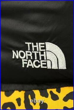 Supreme North Face 11Aw Nuptse Bas Taille Veste Motif Léopard Jaune 01