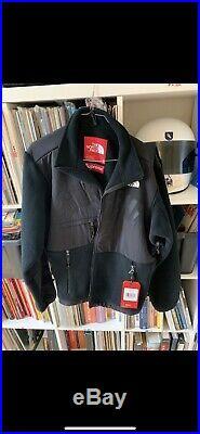Supreme The North Face Denali Fleece Black Jacket Size M Arc Logo