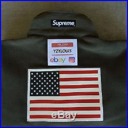 Supreme The North Face Fleece Jacket Olive Ss17 Brand New