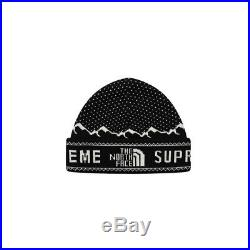 Supreme The North Face Fold Beanie Black (FW18) Brand New Sealed
