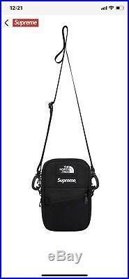 Supreme The North Face Leather Shoulder Bag Black FW18 Confirmed Order