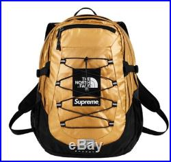 Supreme The North Face Metallic Backpack Gold