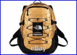 Supreme The North Face Metallic Borealis Backpack Bag Gold 2018 Sac Ss18 New Rar