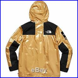 Supreme The North Face Metallic Mountain Parka Jacket Gold Large Tnf Ss18 Sup