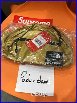 Supreme/The North Face Metallic Roo II Lumbar Pack GOLD