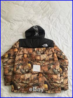 Supreme The North Face Nuptse Leaves Jacket size L DS FW16