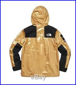 Supreme The North Face Parka Gold Large Tnf Metallic Mountain Ss18 Brand-new