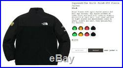 Supreme / The North Face RTG Fleece Jacket, Black, L, TNF, SS20, Deadstock
