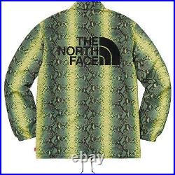 Supreme The North Face Snakeskin Taped Seam Coaches Jacket Green Small