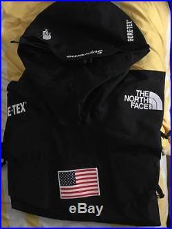 Supreme The North Face TNF Expedition Gore-Tex Pullover SS17 BLACK L BOX LOGO