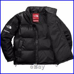 Supreme The North Face Tnf Leather Nupse Jacket Black Size L Brand New Confirme