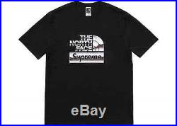 Supreme The North Face Tnf Metallic Logo Tee Black T-shirt Large Ss18 Sup Dswt