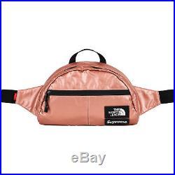 Supreme / The North Face Waist Bag Metallic Roo II Lumbar Pack Rose Gold Ds New