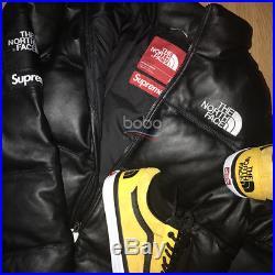 Supreme / The North face Nuptse leather Jacket (black) Size M