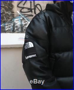 Supreme   The North face Nuptse leather Jacket (black) Size M  ea005f107