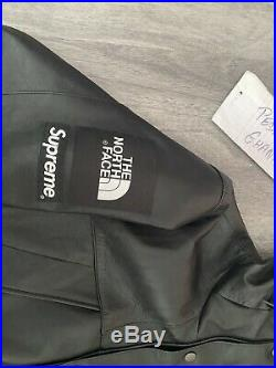 Supreme x The North Face Black Leather Jacket