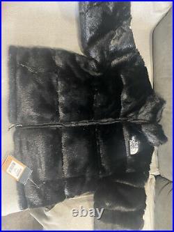 Supreme x The North Face Faux Fur Nuptse Black Noir M medium Neuf New