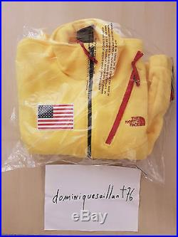 Supreme x The North Face Fleece Jacket Yellow Size M SS17