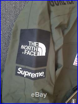 Supreme x The North Face Goretex Pullover Olive Size L BOGO BOXLOGO
