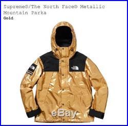 Supreme x The North Face Metallic Mountain Parka Gold Size L