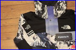 Supreme x The North Face Mountain Parka Blue / White XL Brand New