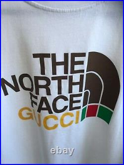 THE NORTH FACE GUCCI t shirt black XL