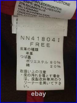 THE NORTH FACE Gratuit Mouton Cuir Hitsujikawa Casquette Rouge 3462 De Japon