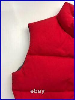 THE NORTH FACE M Nylon Étiquette Taille M Rouge Gilet 2314 De Japon