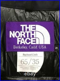 THE NORTH FACE PURPLE LABEL S Polyester Noir Étiquette TAILLE Bas Veste 5737