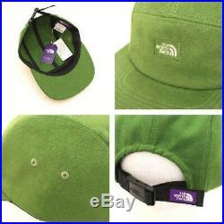 THE NORTH FACE Violet Étiquette NN8808N Daim Casquette Vert Un Taille Japon Avec