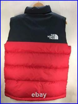 The North Face 1992 Nuptse Nupushi S Nylon Rouge Étiquette TAILLE S Gilet 4326