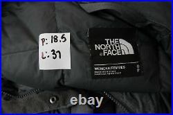 The North Face 550 Metropolis Bas à Capuche Doudoune Manteau Parka Gris Femmes S