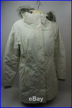 The North Face Arctique II 550 Femmes Blanc Bas Parka Fausse Fourrure Taille S