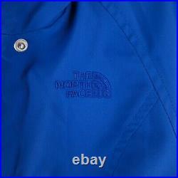 The North Face Bleu Imperméable Rembourré Chaud Manteau Parka Veste TAILLE XS